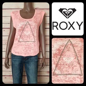 """ROXY Pink Top """"LIVE TO DREAM – LIVE TO SURF"""""""